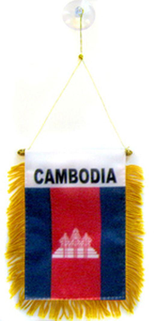 CAMBODIAN PENNANT 15 x 10 cm CAMBODIA mini banner 6/'/' x 4/'/' mini banners 4x6