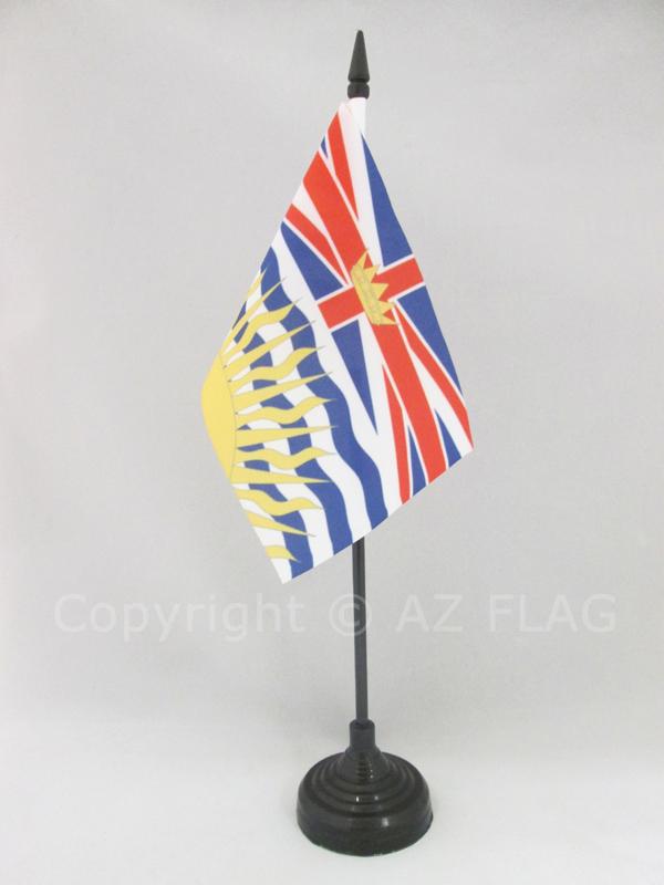TISCHFLAGGE BRITISH COLUMBIA 15x10cm BRITISCH-KOLUMBIEN TISCHFAHNE 10 x 15 cm