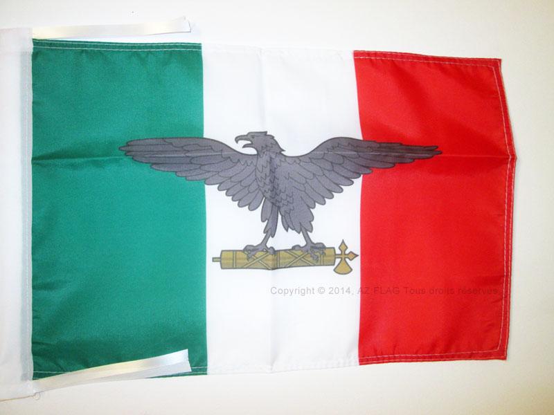 BANDERINA ITALIA FASCISTA RS BANDERA de la REPÚBLICA SOCIAL ITALIANA 45x30cm