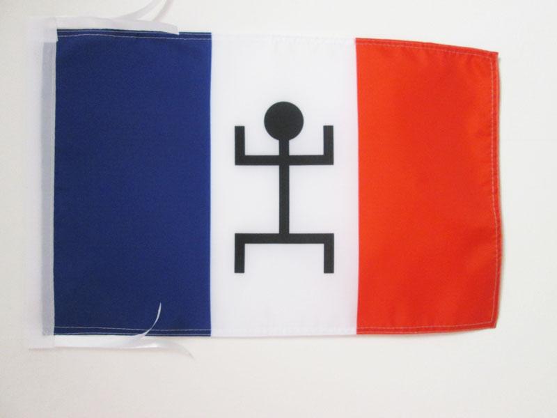 Drapeau de Bateau kanak 30 x 45 cm AZ FLAG Pavillon Nautique Nouvelle Cal/édonie 45x30cm