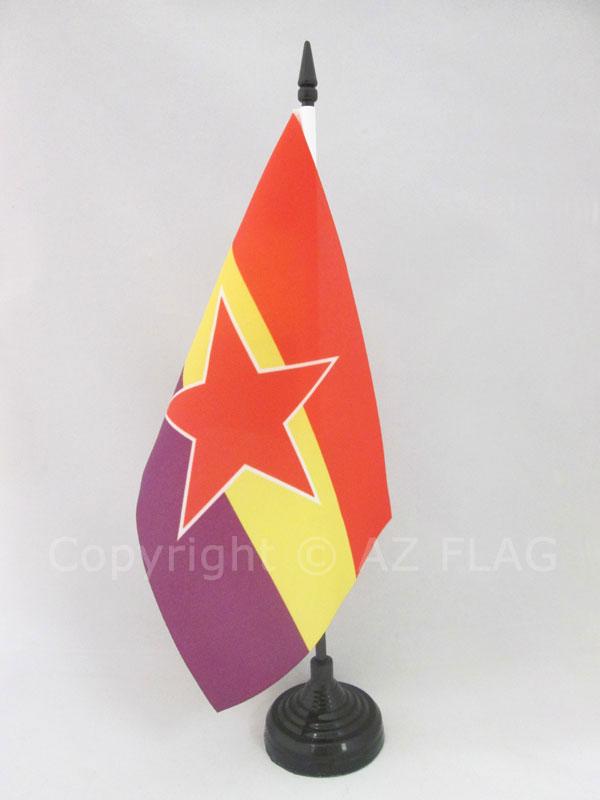 AZ FLAG Bandera de Mesa de la REP/ÚBLICA CENTROAFRICANA 21x14cm BANDERINA de DESPACHO CENTROAFRICANA 14 x 21 cm