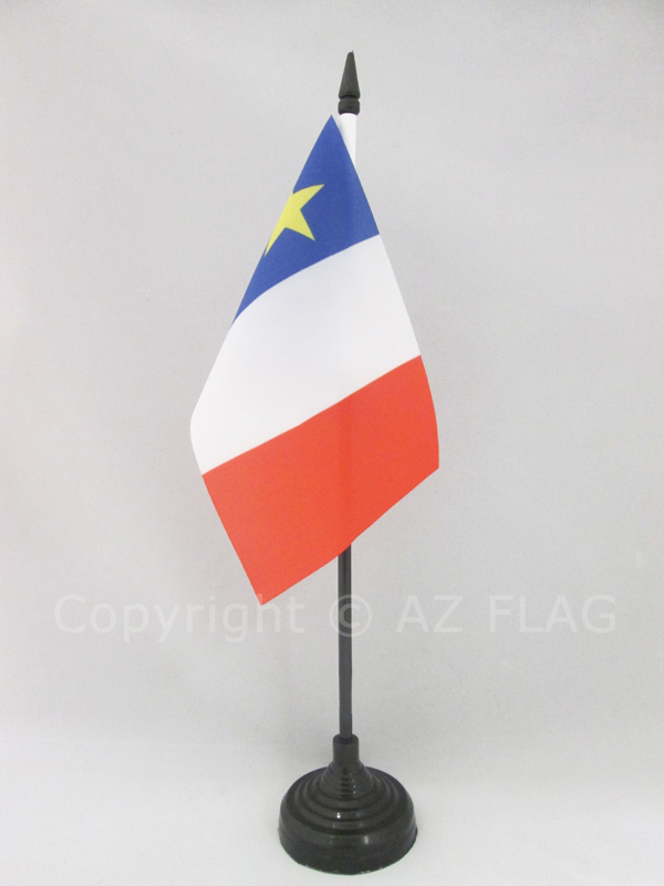 CYPRUS TABLE FLAG SET OF 4 FLAGS WITH BASE
