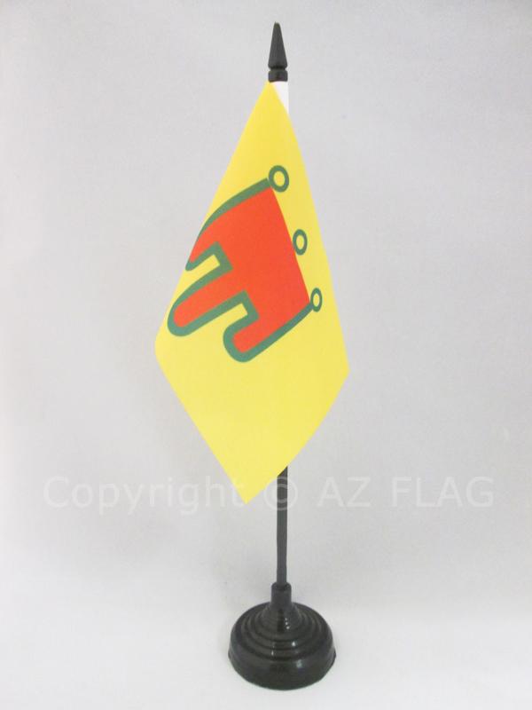 Comt/é dAuvergne 14 x 21 cm Petit Drapeaux DE Bureau auvergnat AZ FLAG Drapeau de Table Auvergne 21x14cm