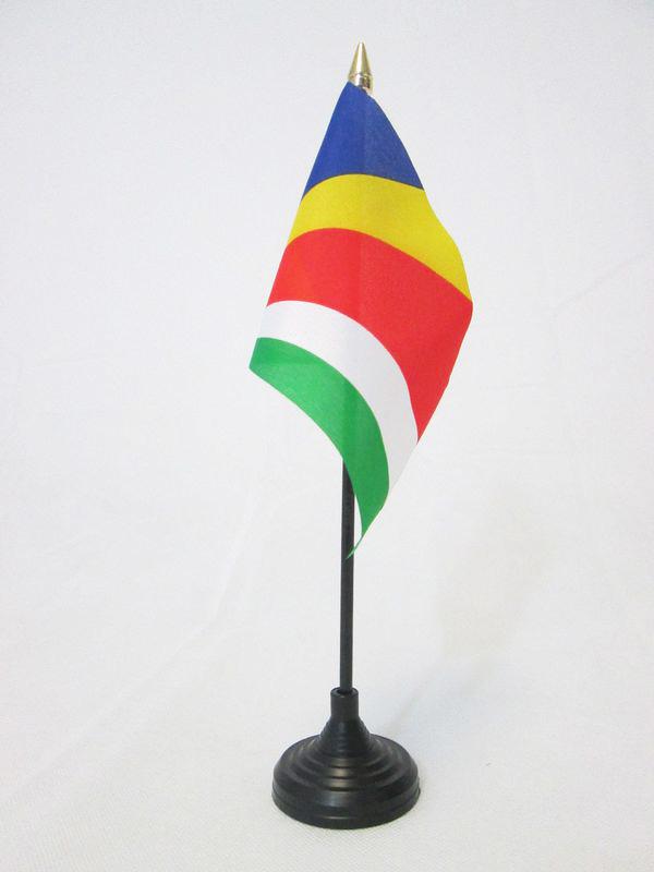 "Seychelles 4/""x6/"" Flag Desk Table Stick"