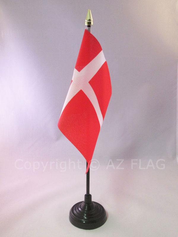 Piccola BANDIERINA SLOVENA 10 x 15 cm AZ FLAG Bandiera da Tavolo Slovenia 15x10cm Punta Dorata
