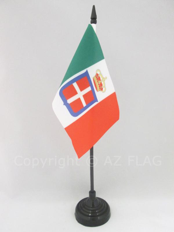 AZ FLAG Bandiera da Tavolo Regno dItalia 1861-1946 21x14cm Piccola BANDIERINA Reale Italiana 14 x 21 cm
