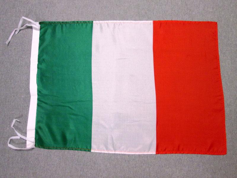 BANDIERA ITALIA 45x30cm - BANDIERINA ITALIANA 30 x 45 cm poliestere leggero - Nu